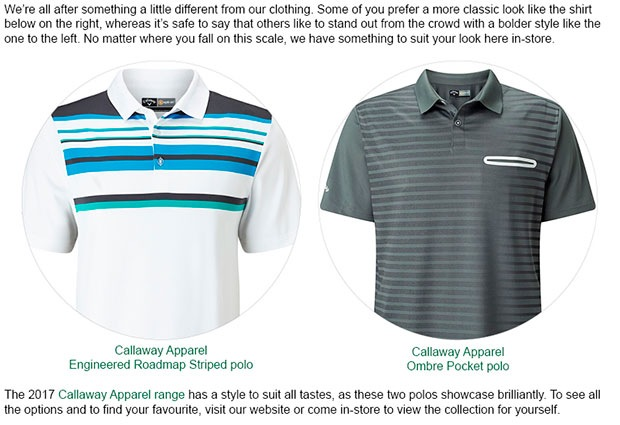 Callaway Apparel Article