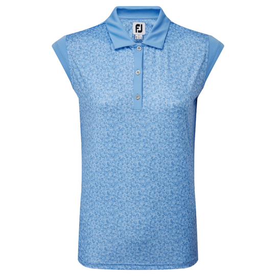 FootJoy Cap Sleeve Print Interlock Polo Shirt