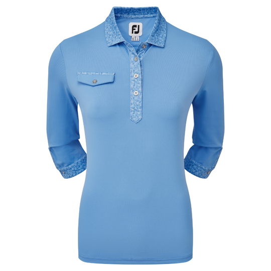 FootJoy ¾ Sleeve Pique Polo Shirt